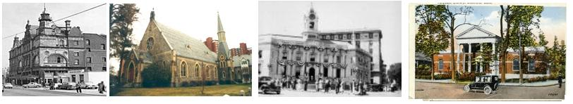Stamford History Header with four different historic images of Stamford