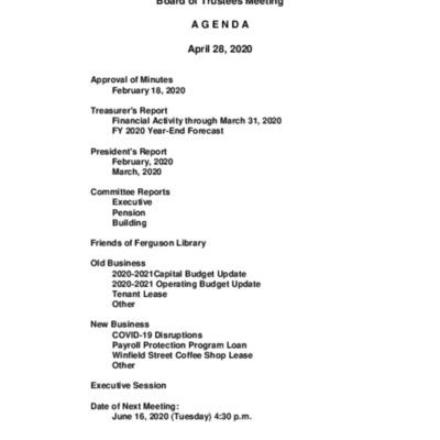 2020-04-28_FergusonLibrary_BoardOfTrustees_Agenda.pdf