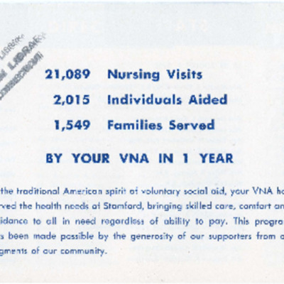 The Visiting Nurse Association of Stamford, Conn., Inc. 43rd Annual Report 1955