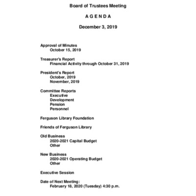 2019-12-03_FergusonLibrary_BoardOfTrustees_Agenda.pdf