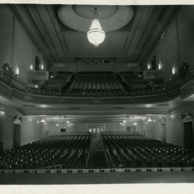 Interior of Strand Theater