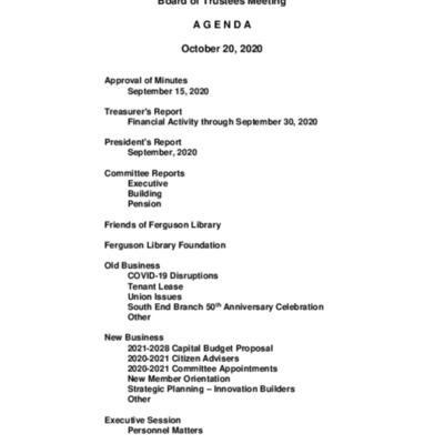 2020-10-20_FergusonLibrary_BoardOfTrustees_Agenda.pdf