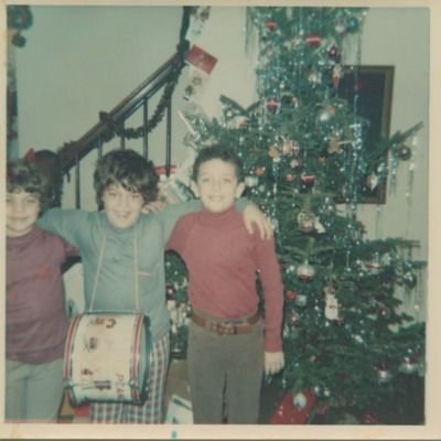 Chris Sinatra with his boyhood friends at Christmas