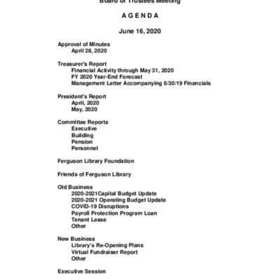 2020-06-16_FergusonLibrary_BoardOfTrustees_Agenda.pdf