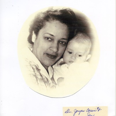 Dr. Joyce Yerwood with her infant son