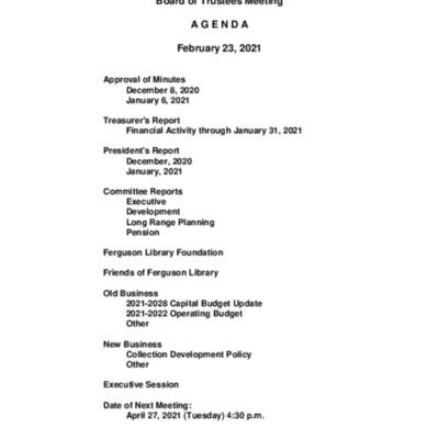 2021-02-23_FergusonLibrary_BoardOfTrustees_Agenda.pdf