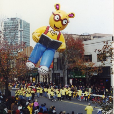 Arthur balloon in the Stamford Thanksgiving Parade