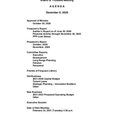 2020-12-08_FergusonLibrary_BoardOfTrustees_Agenda.pdf