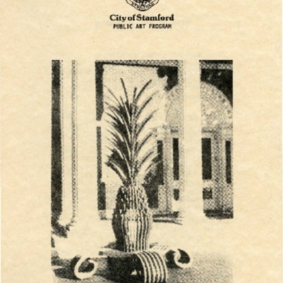 Informational Pamphlet for Corinthian Bench installation as part of the 1988 Stamford Public Art Program