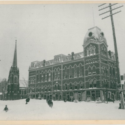 The Town Hall after the Blizzard of 1888