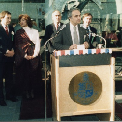 Ernest A. DiMattia Speaking at the Dedication of the Stamford Government Center