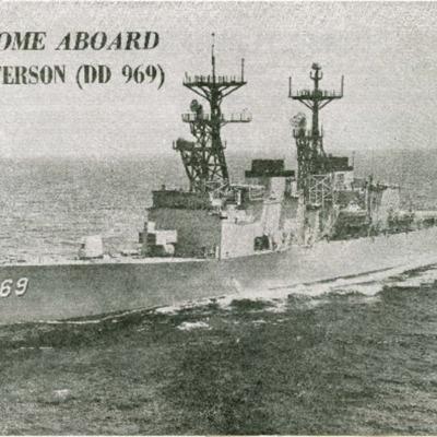Welcome aboard USS Peterson (DD 969)