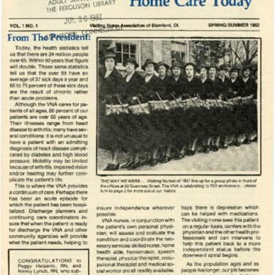 VNA Voice... Home Care Today (Spring/Summer 1982)