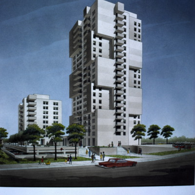 134-New Hope Towers - Architect's rendering