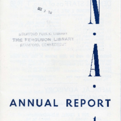 The Visiting Nurse Association of Stamford, Conn., Inc. Annual Report 1957