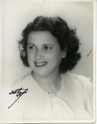 Portrait of Herminia Isidro, mother of Miriam Isidro Arrango