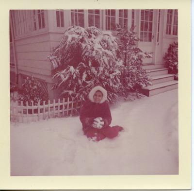 Miriam Arrango in the snow