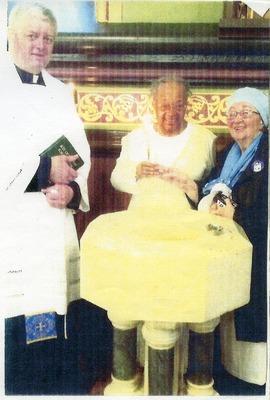 Lula Ann Blackson at her Catholic Initiation Ceremony