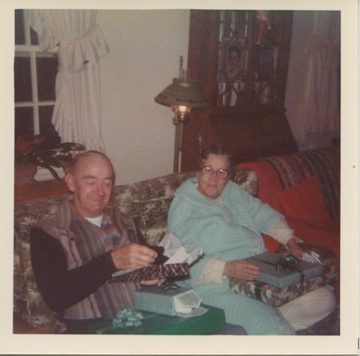 Grandparents of Chris Sinatra at Christmas in 1977