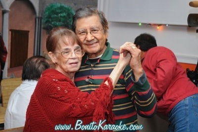 Galdino Velasco dancing with Juana Velasco