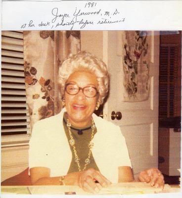 Dr. Joyce Yerwood at her desk