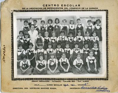 Miriam Isidro Arrango in her second grade class photo
