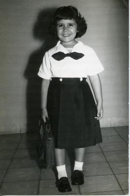 Miriam Isidro Arrango in kindergarten