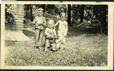 Gwen Ketchum plays with childhood friends