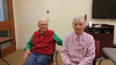 Herb and Louise Spirer after their Tell Your Story Interview