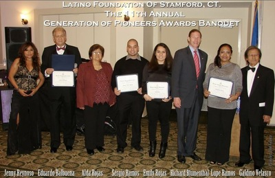 Latino Foundation of Stamford, CT. The 11th Annual Generation of Pioneers Awards Banquet