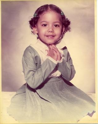 Joyce Carwin as a girl