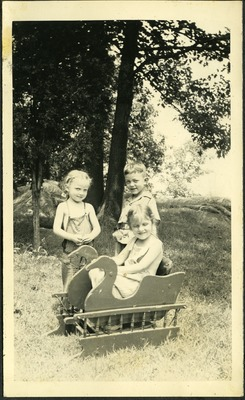 Gwen Ketchum and childhood friends play in a park